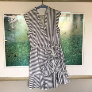 Lucy Paris Blue and White Stripe Dress